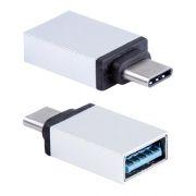 Адаптер OTG USB 3.1 Type C(m) - USB 3.0 Af, хром, BLAST BMC-602