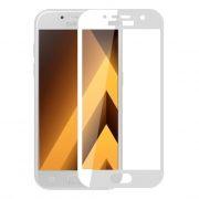 Защитное стекло для экрана Samsung Galaxy A5 White (17), Full Screen Asahi, Perfeo (88) (PF_5075)