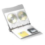 Папка-скоросшиватель для 40 CD, 10 конвертов, прозрачный, Aidata CD40BA