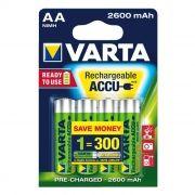 Аккумулятор AA VARTA Ready2Use 2600мА/ч Ni-Mh, 4шт, блистер (5716101404)