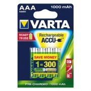 Аккумулятор AAA VARTA Ready2Use 1000мА/ч Ni-Mh, 4шт, блистер (5703)