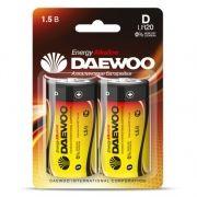 Батарейка D DAEWOO Energy Alkaline LR20, 2шт, блистер