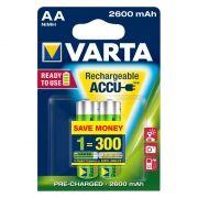 Аккумулятор AA VARTA Ready2Use 2600мА/ч Ni-Mh, 2шт, блистер (5716101402)
