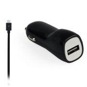 Зарядное автомобильное устройство SmartBuy NOVA MKII, 2.1A, кабель microUSB, черное (SBP-1503MC)