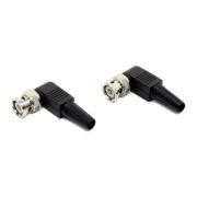 Разъем BNC угловой для кабеля RG-59, под винт, пласт. колпачек, в пакете, 2 шт, ORIENT C668