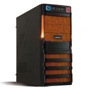Корпус Miditower CROWN CMC-SM162 Black/Orange ATX, без блока питания
