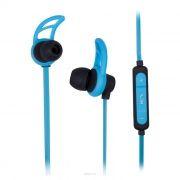 Гарнитура Bluetooth RITMIX RH-400BTH, внутриканальная, голубая