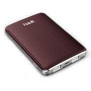 Зарядное устройство HAVIT HV-PB004X с аккумулятором 5000 мА/ч, красное/коричневое