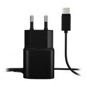 Зарядное устройство AKAI HD-6C01B, 1 A, Type-C, черное