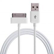 Кабель USB 2.0 Am=>Apple 30 pin, 1 м, белый, 1 А, AKAI CE-601W