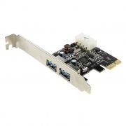 PCI-E контроллер 2 внешних порта USB3.0, ORIENT VL-3U2PE (OEM)