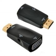 Адаптер HDMI/M - VGA/F + Audio, черный, Orient C118