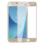 Защитное стекло для экрана Samsung Galaxy J3 (17) Gold, Full Screen Asahi, Perfeo (PF_5082)