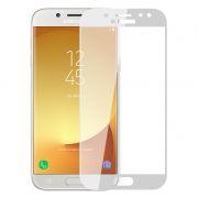 Защитное стекло для экрана Samsung Galaxy J7 (17) White, Full Screen Asahi, Perfeo (PF_5087)
