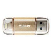 32Gb Apacer AH190 Mobile OTG Lightning/USB3.1 Gold (AP32GAH190C-1)