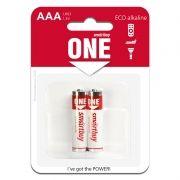 Батарейка AAA SmartBuy ONE LR03/2B Alkaline, 2 шт, блистер (SOBA-3A02B-Eco)