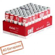 Батарейка AAA SmartBuy ONE LR03/40 Alkaline, 40шт (SOBA-3A40S-Eco)