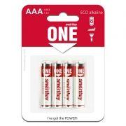 Батарейка AAA SmartBuy ONE LR03/4B Alkaline, 4 шт, блистер (SOBA-3A04B-Eco)