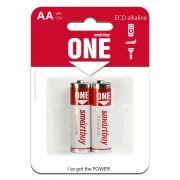 Батарейка AA SmartBuy ONE LR6/2B Alkaline, 2 шт, блистер (SOBA-2A02B-Eco)