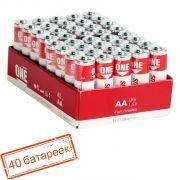 Батарейка AA SmartBuy ONE LR6/40 Alkaline, 40шт (SOBA-2A40S-Eco)