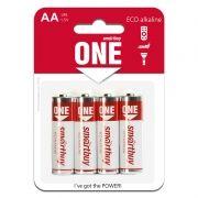 Батарейка AA SmartBuy ONE LR6/4B Alkaline, 4 шт, блистер (SOBA-2A04B-Eco)
