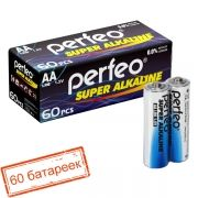 Батарейка AA Perfeo LR6/4SH Super Alkaline, 60 шт, коробка