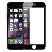 Защитное стекло для экрана iPhone 6/6S Black, 3D, силиконовые края, Perfeo (0042) (PF_4395)