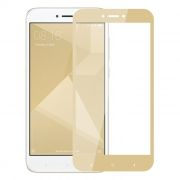 Защитное стекло для экрана Xiaomi Redmi Note 4X Gold, Full Screen Asahi, Perfeo (PF_A4015)