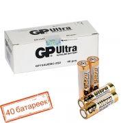 Батарейка AA GP Ultra Alkaline LR6/2SH, 40 шт, коробка (15AU-OS2)