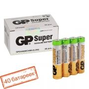 Батарейка AAA GP Super Alkaline LR03/2SH, 40 шт, коробка (24A-OS2)