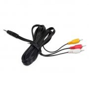 Кабель аудио/видео 3.5 4-pin plug -> 3 RCA plug, 1.0 м, ATcom (АТ1006)