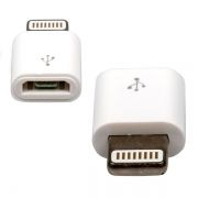 Адаптер USB 2.0 micro Bf - Apple Lightning 8 pin (m), белый, Dialog (CI-0001)