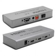 Разветвитель 1 HDMI вход => 2 HDMI выхода, HDMI 2.0, 4K/1080p, HDCP, 3D, с б/п, ORIENT HSP0102H-2.0