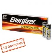 Батарейка AA ENERGIZER INDUSTRIAL LR6/10BOX, 10 шт, коробка