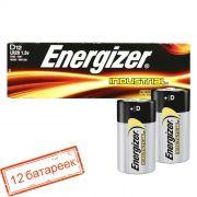 Батарейка D ENERGIZER INDUSTRIAL LR20/12BOX, 12 шт, коробка