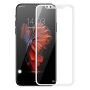 Защитное стекло для экрана iPhone X White, Full Screen Gorilla, Perfeo (PF_5330)