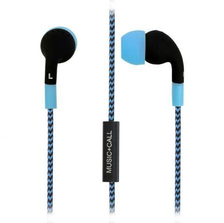 Гарнитура SmartBuy Z для мобильных устройств, вставная, черно-синяя (SBH-720)