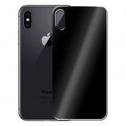 Защитное стекло обратной стороны iPhone X Black, 3D Gorilla 0.33мм, Perfeo (PF_4067)