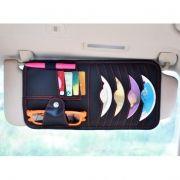 Держатель-органайзер на козырек автомобиля для CD и документов, черное, RITMIX RAO-1663