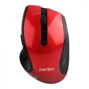 Мышь беспроводная Perfeo Blues, красная, USB (PF-522-RD) (PF_5360)