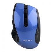 Мышь беспроводная Perfeo Blues, синяя, USB (PF-522-BL) (PF_5361)