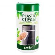 Салфетки влажные Perfeo Plastic Clean для пластиковых поверхностей, в тубе 100шт (PF-T/PC-100)