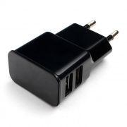 Зарядное устройство Cablexpert MP3A-PC-12 100/220V->5V, 2.1A 2xUSB, черное