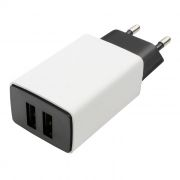Зарядное устройство Cablexpert MP3A-PC-15 100/220V->5V, 2.1A 2xUSB