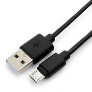 Кабель USB 2.0 Am=>micro B - 0.5 м, черный, Гарнизон (GCC-mUSB2-AMBM-0.5M)
