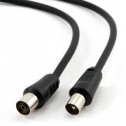 Кабель антенный TV (М) -> TV (F), 3 м, черный, Cablexpert (CCV-515-3M)