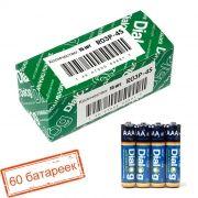 Батарейка AAA DIALOG R03P-4S солевая, 60 шт, коробка