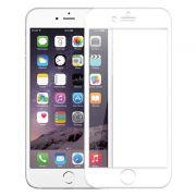 Защитное стекло для экрана iPhone 6/6S White, 3D, силиконовые края, Perfeo (PF_4396)