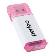 Карт-ридер внешний USB Perfeo PF-VI-R019 для microSD, розовый