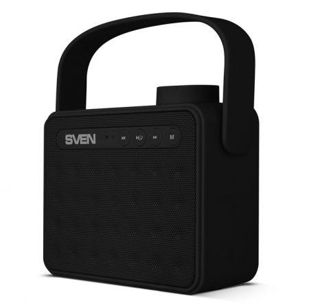 Мини аудио система SVEN PS-72, MP3, FM, черная